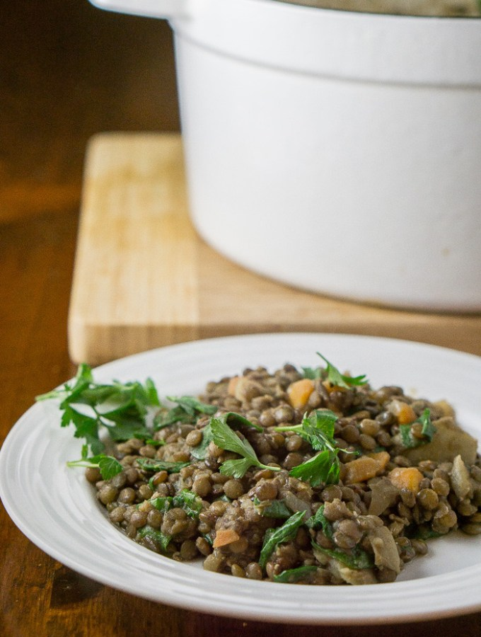 Lentils with Spinach and Herbs