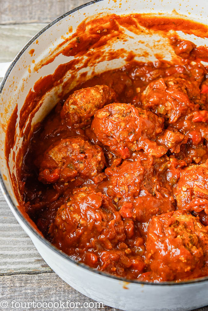 dunked turkey meatballs