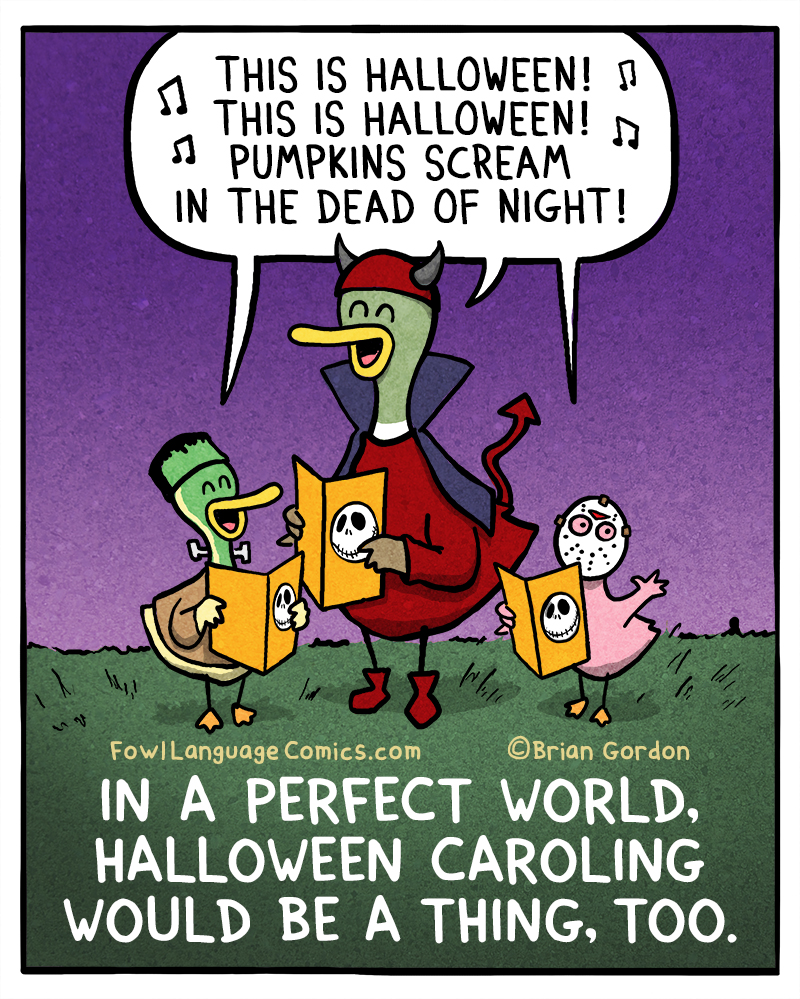 Image result for fowl language halloween carolers