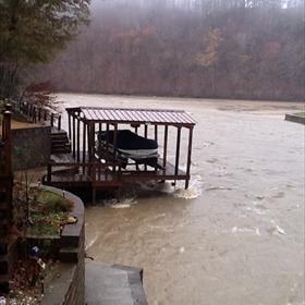 Boat dock damage on Lake Hamilton_-49630726361955923