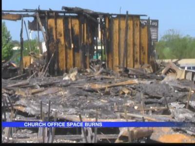 Family Church teen building burns in Bryant_-8753005093316311350