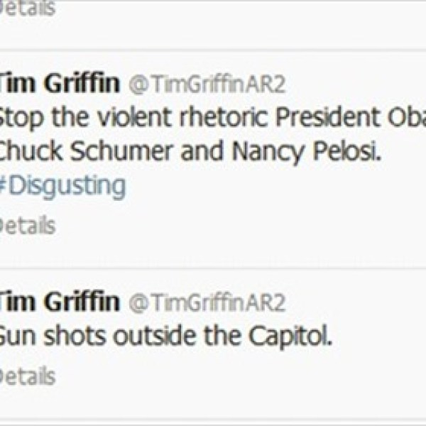 Tim Griffin Controversial Tweets after Capitol Hill Lockdown_6368066465867124182