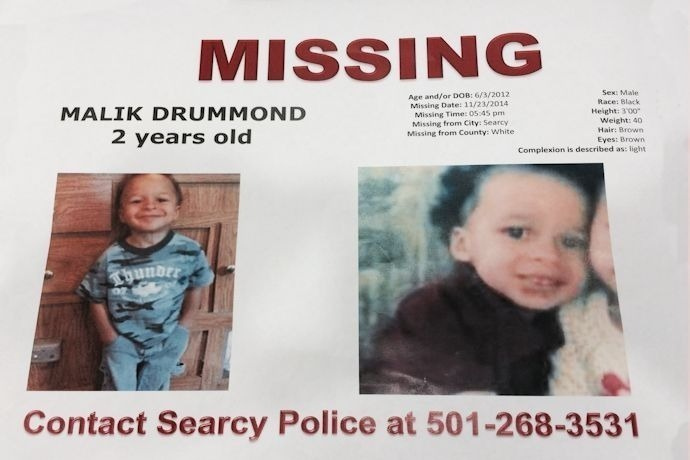 Malik Drummond, 2, missing in Searcy._3231681417729624353