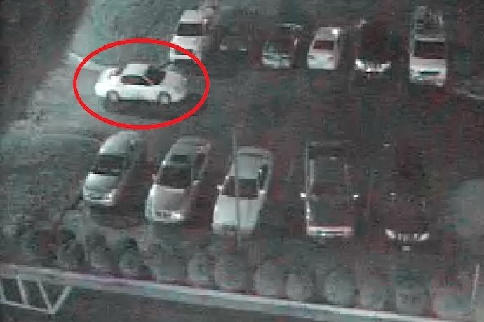 Suspect's vehicle in March 18 shooting death in parking lot of Plaza Hotel in Pine Bluff._8050648138572712617