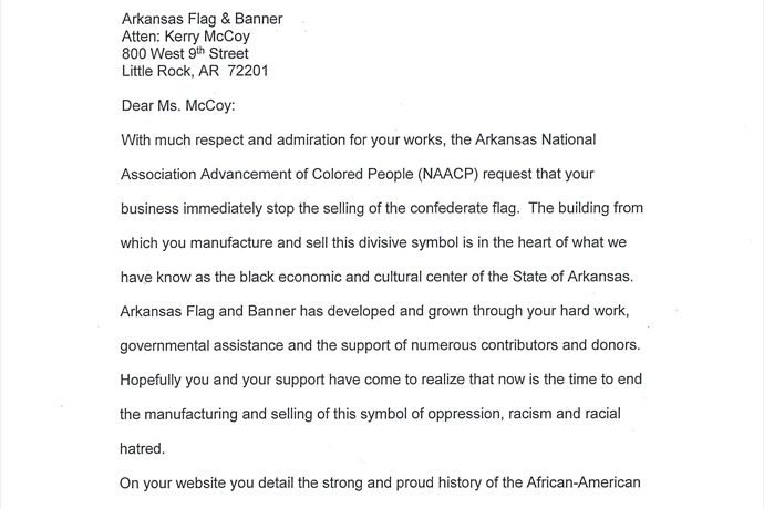 NAACP Asks Local Company To Stop Selling Confederate Flag _-6940873904043438899