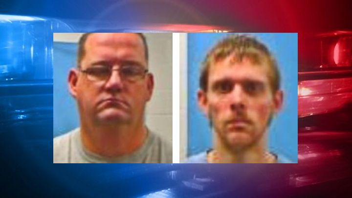 Left to right - Bobby Kennedy, 40 and Phillip Derozier, 24, Dumas City Jailers Arrested