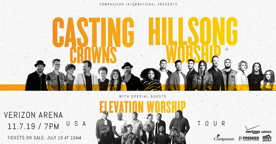 Casting Crowns, Hillsong Worship, and Elevation Worship
