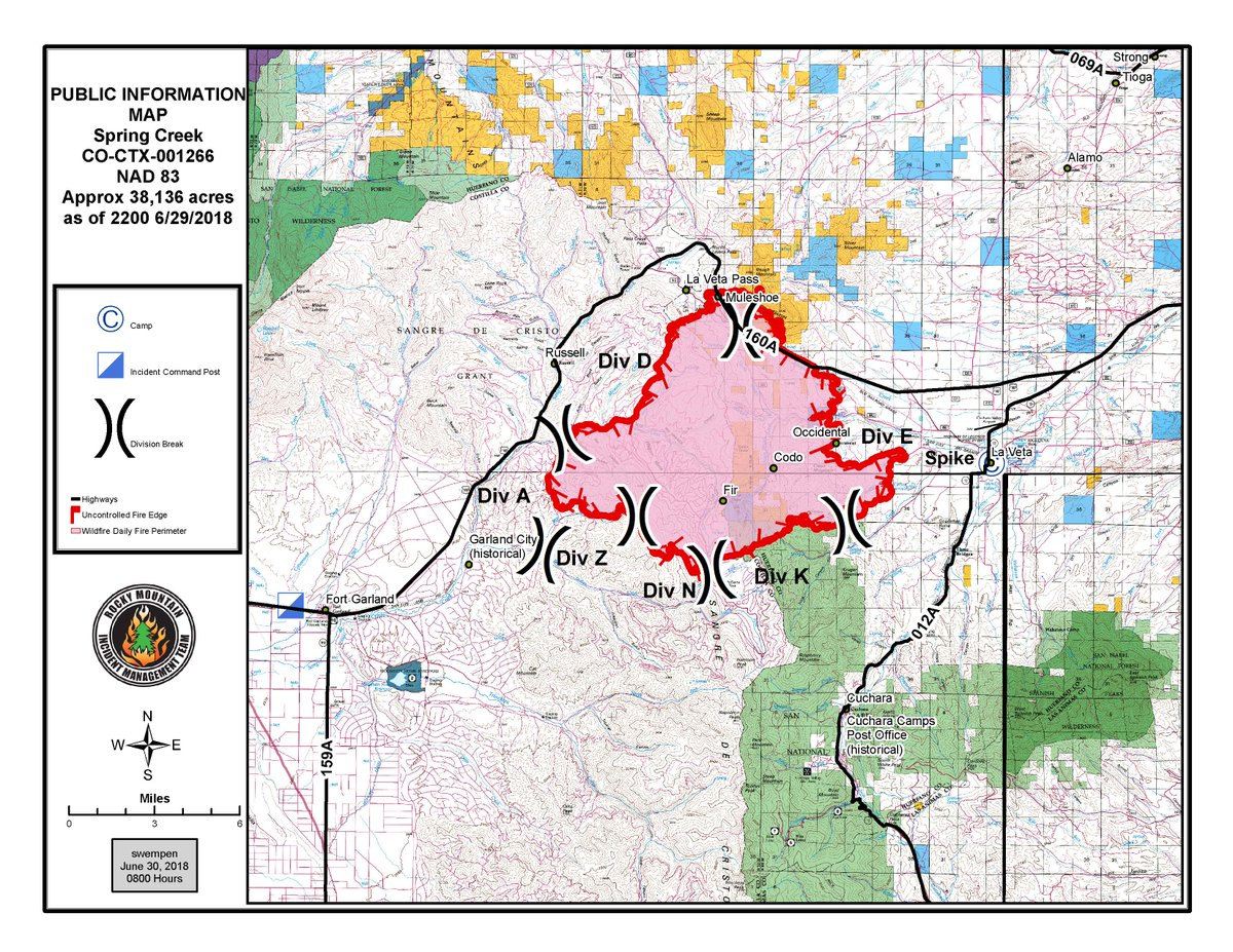Spring Fire Map June 30