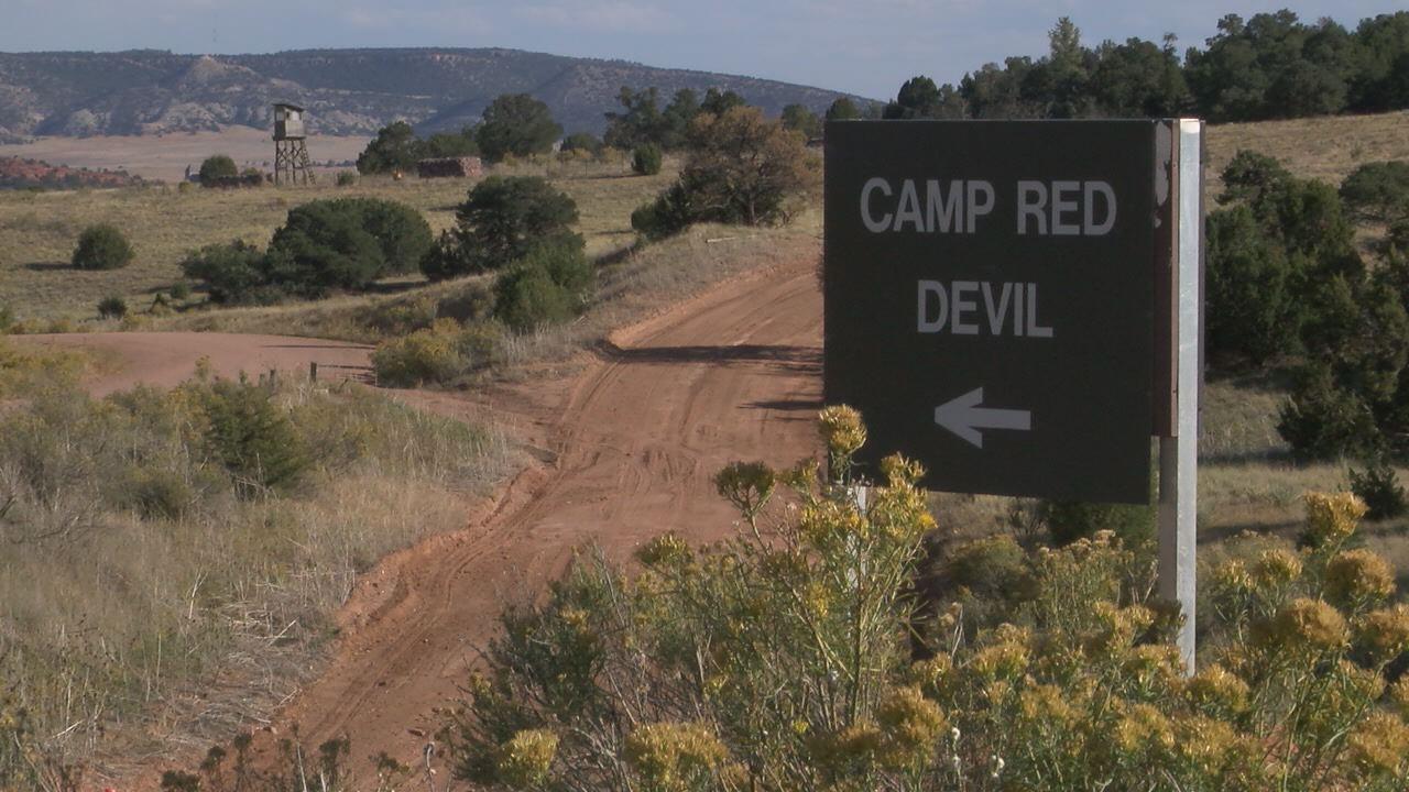 Camp Red Devil training area