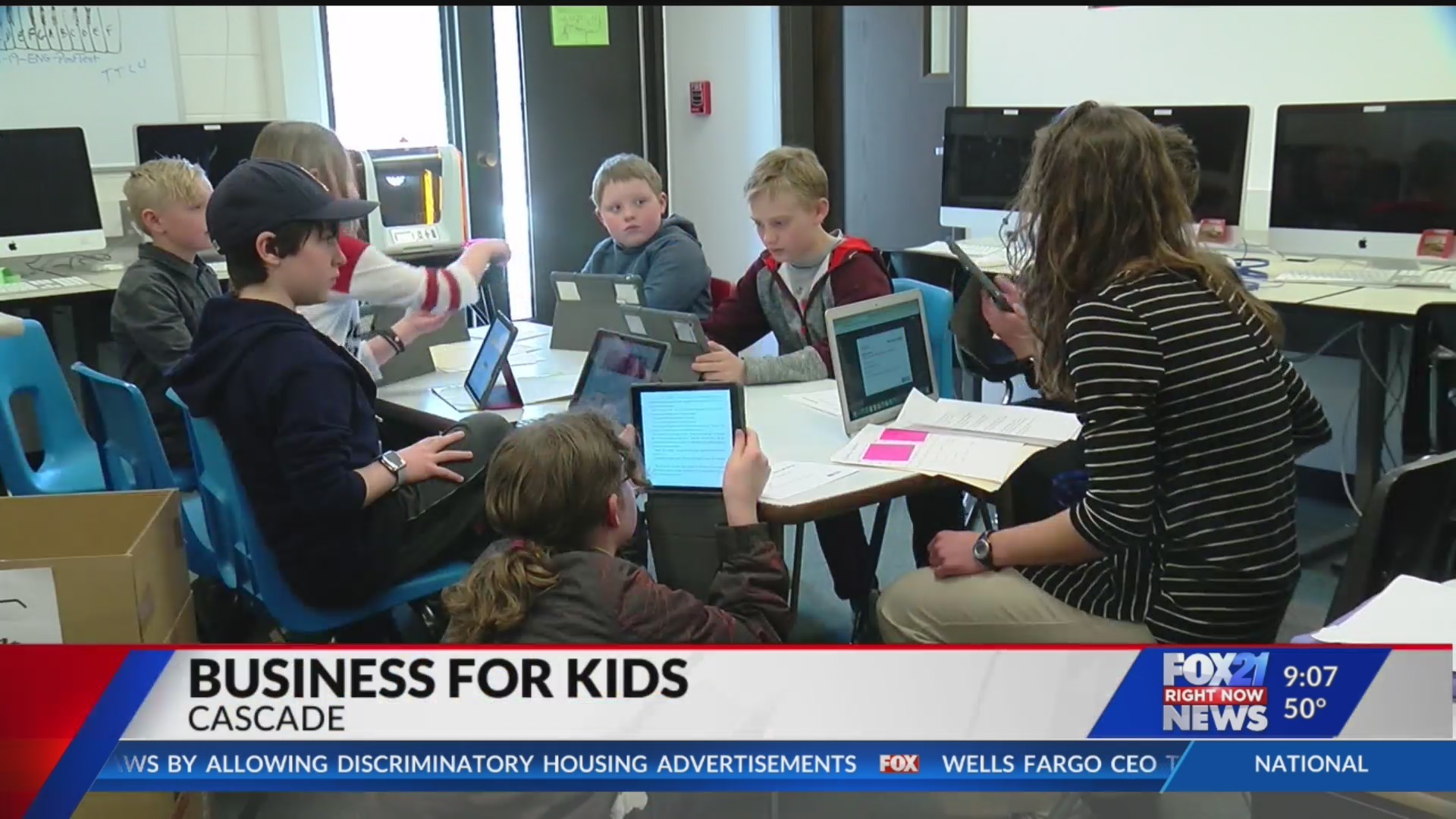 Cascade elementary school teaches students to build their own businesses