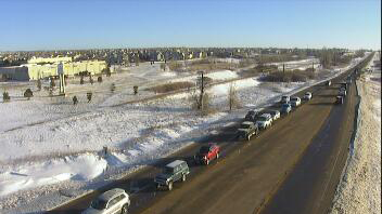 Highway 24 at Woodmen Road in Falcon around 8 a.m. Friday. Colorado Department of Transportation