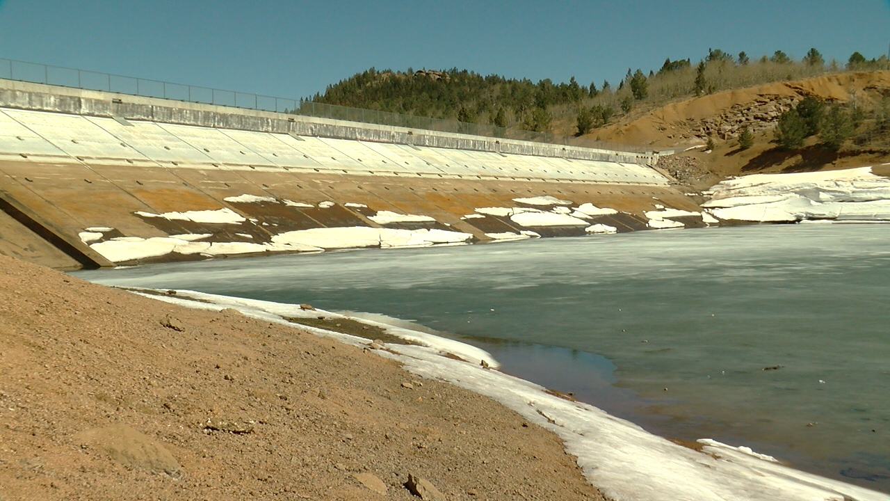 The dam at Crystal Creek Reservoir. Mike Duran - FOX21 News