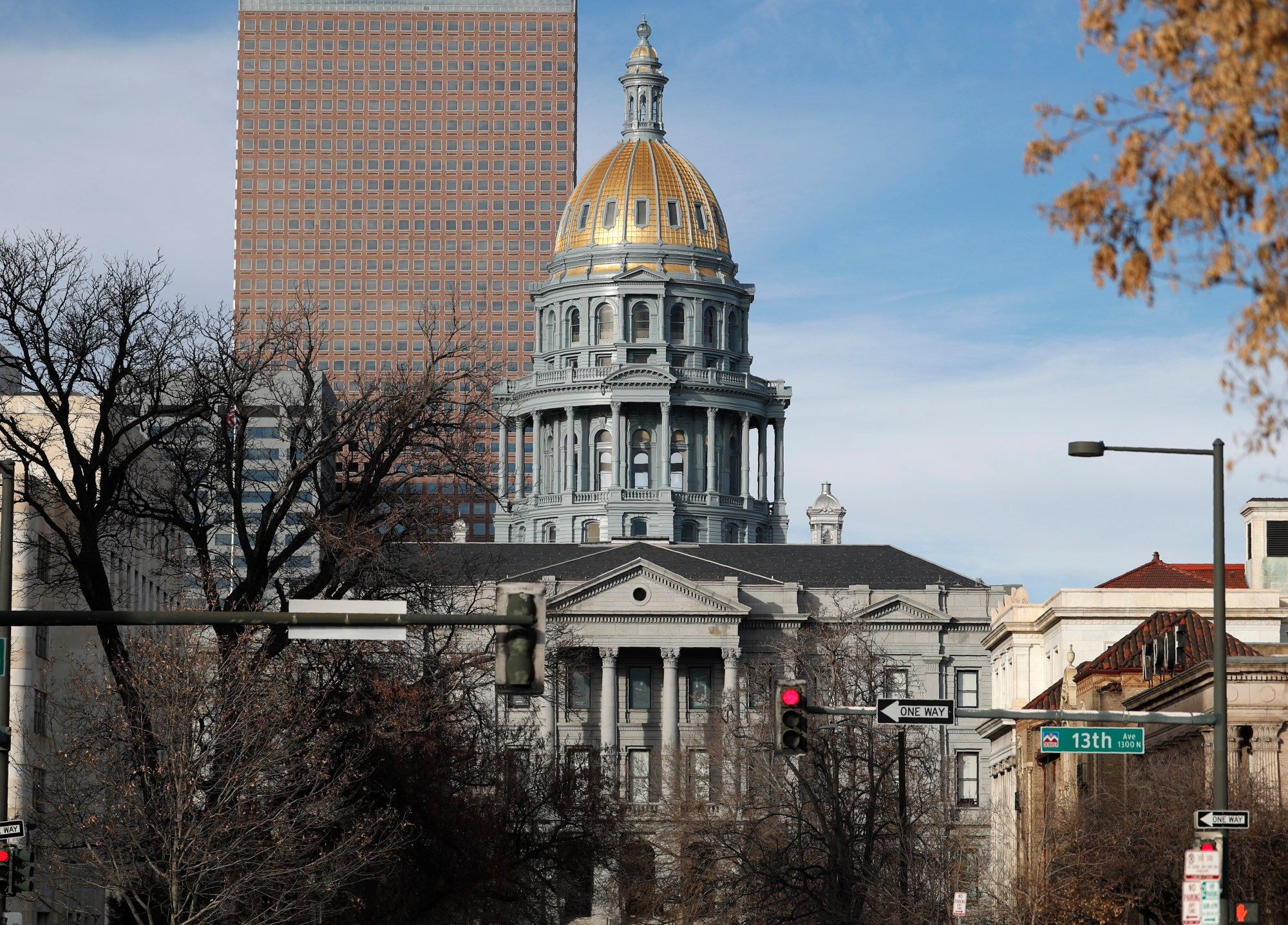 FILE - In this Saturday, Jan. 4, 2020, file photo, the State Capitol is shown in downtown Denver. (AP Photo/David Zalubowski, File)