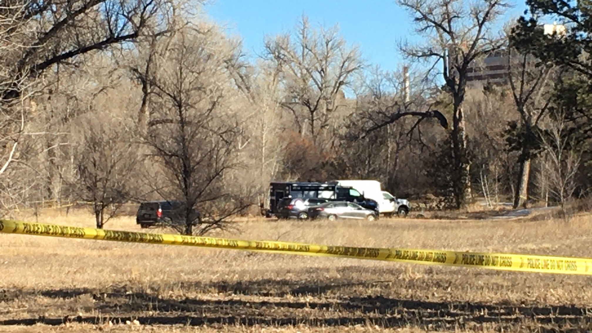 Police investigate after human remains were found in the north end of Monument Valley Park. / Mike Duran - FOX21 News