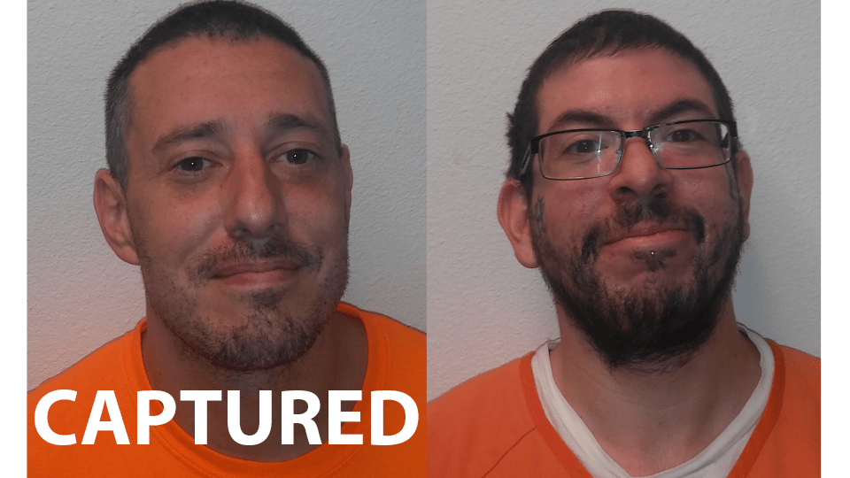 Jerry Williams, who has been captured, and Bryon Webb, who is still wanted / Custer County Sheriff's Office