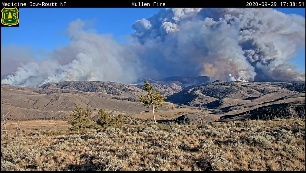 The Mullen Fire on Tuesday, September 29. / Courtesy Mullen Fire Information