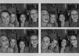 Black and white photobooth pictures