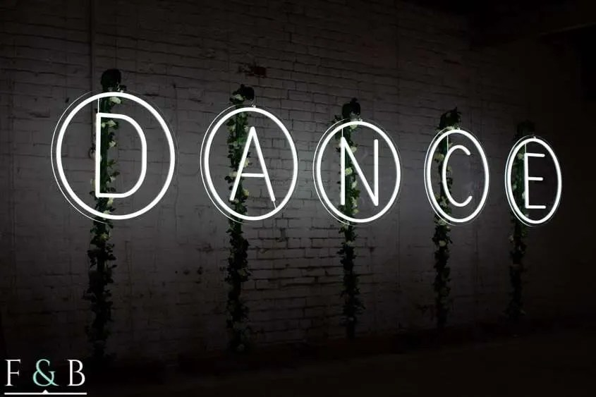 giant neon letter hire