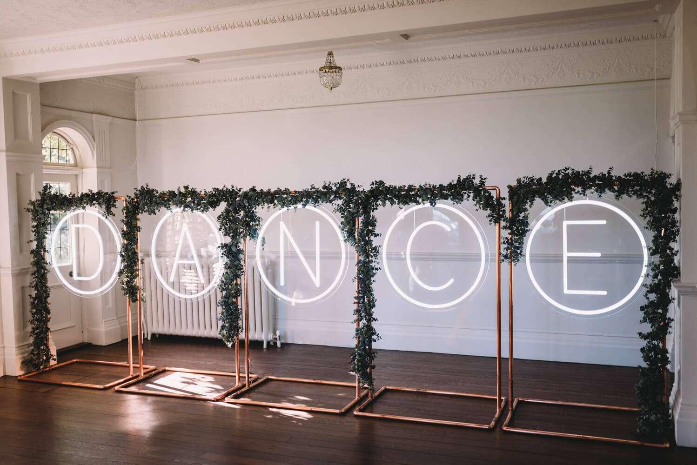 Giant light up dance letters