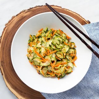 Sesame Carrot and Cucumber Slaw