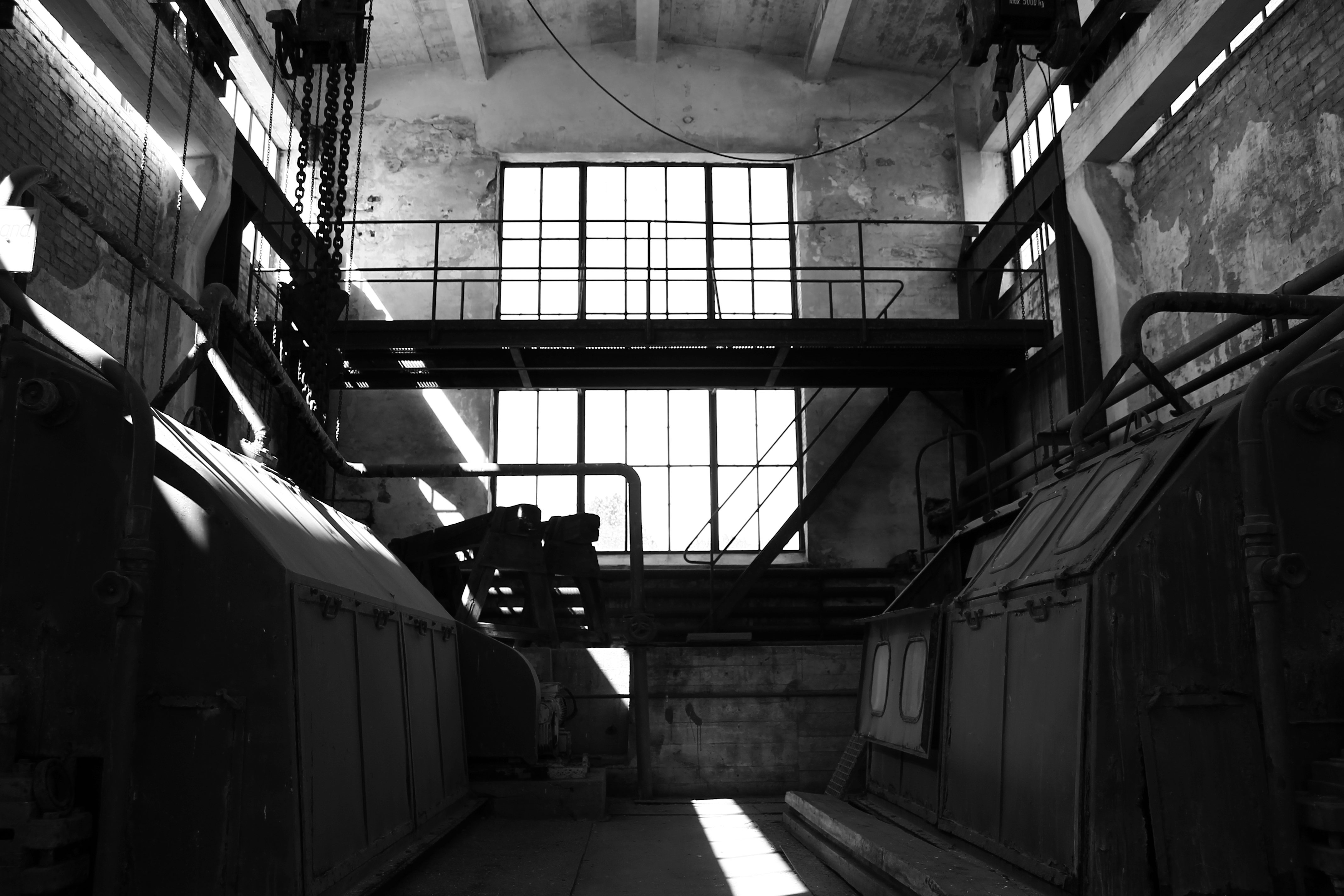Cold Photography Black White Machines Abandoned Urbex