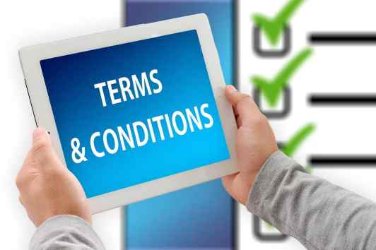 terms and conditions pages
