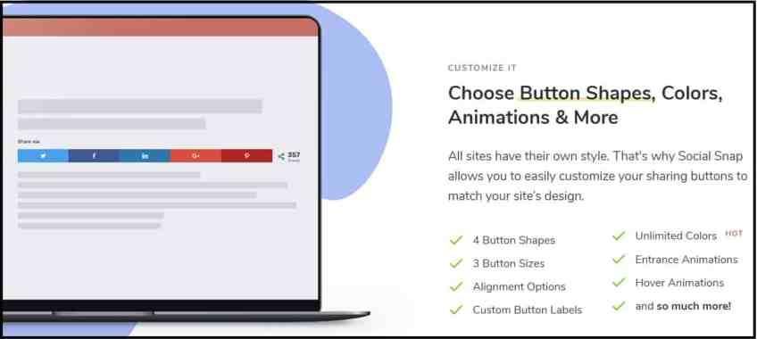 Customizable Social buttons