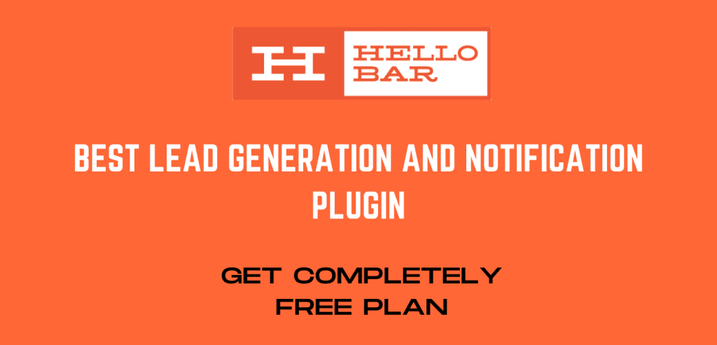 Hello Bar - Notofication and Lead generation wordpress Plugin
