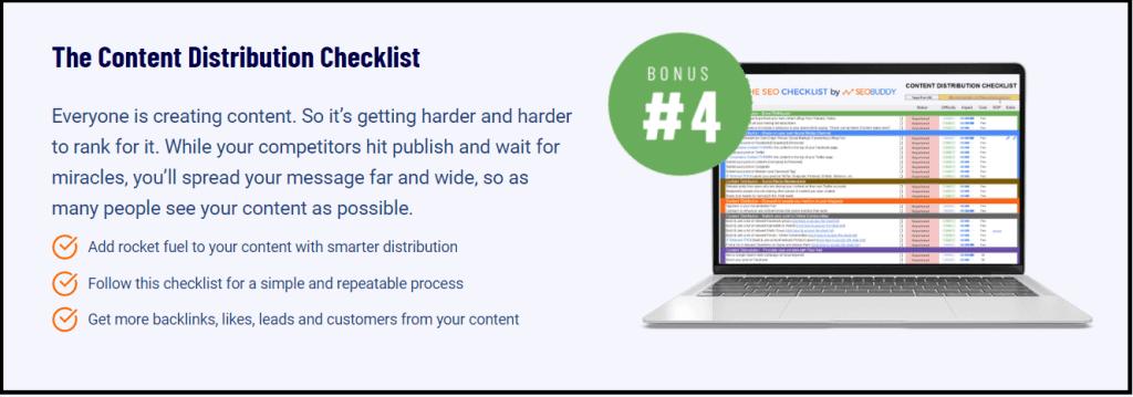 Content distribution checklist