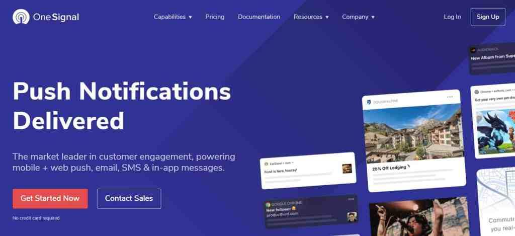 OneSignal - WordPress web push notification tool