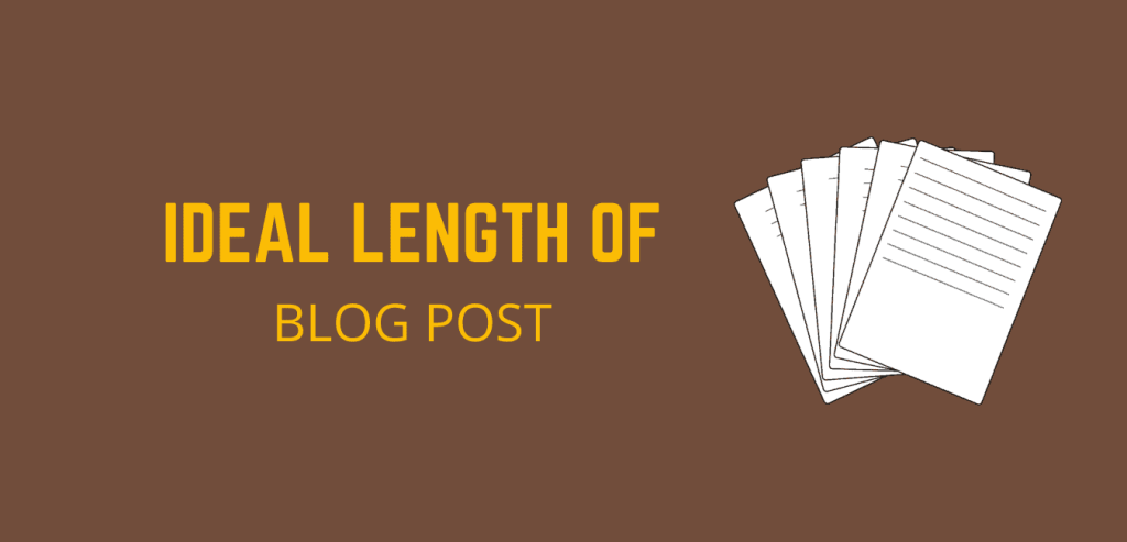 Ideal Length of Blog post for SEO