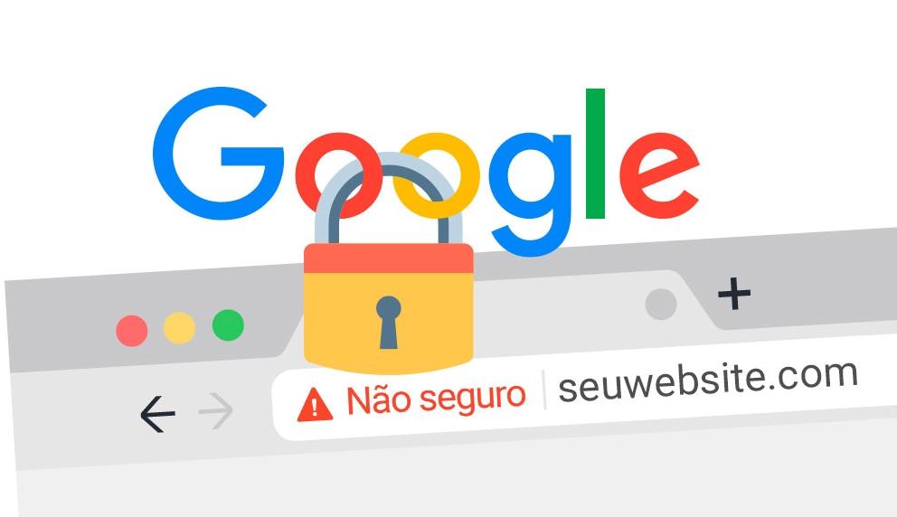 Site não seguro para o Google
