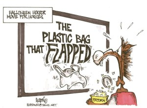 plastic bag flapping