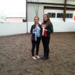 Novice - Reserve Champion Nicola Williams and Champion Katie Nickson.