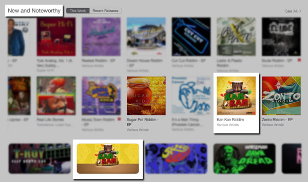 iTunes New and Notworthy