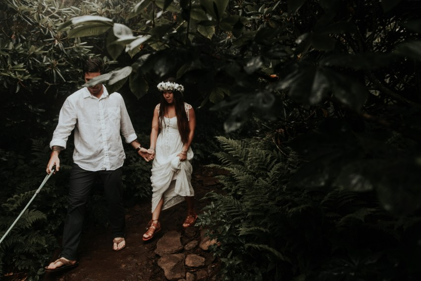 craggy gardens elopement photographer