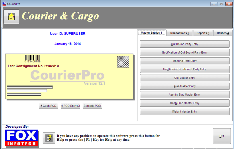 Download Free Software For Logistics / Courier Services
