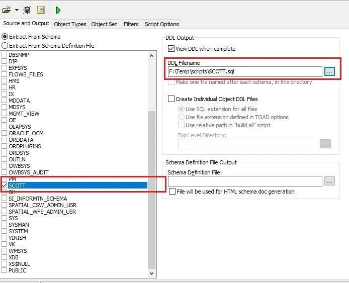 How to Generate Schema Script from Toad?   Vinish Kapoor's Blog