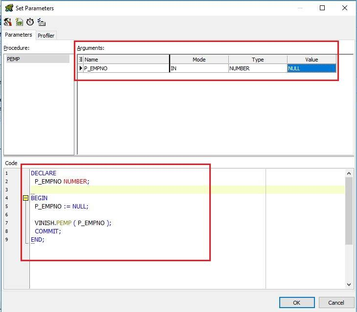 Learn How to Execute a Procedure in Toad For Oracle | Vinish