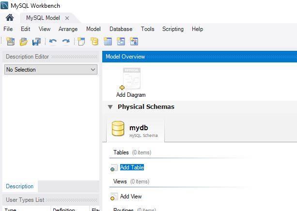 MySQL Workbench.