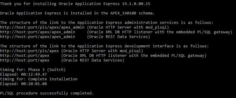 Install Oracle Apex 19 1 in Eleven Easy Steps | Vinish