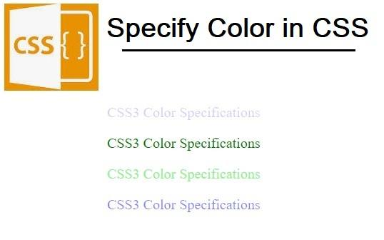 CSS Colors.