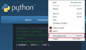 Python - View Page Source