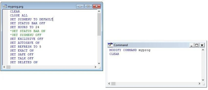 VFP: Learn How to Create Program ( prg) File in Visual