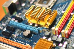 Motherboard corrosion from CMOS.