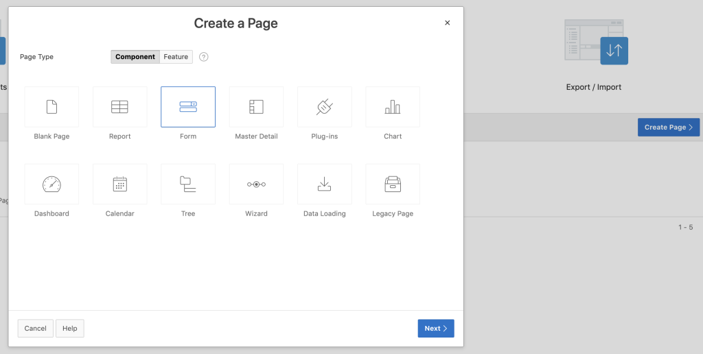 Oracle Apex - Create Report with Form with Region Display