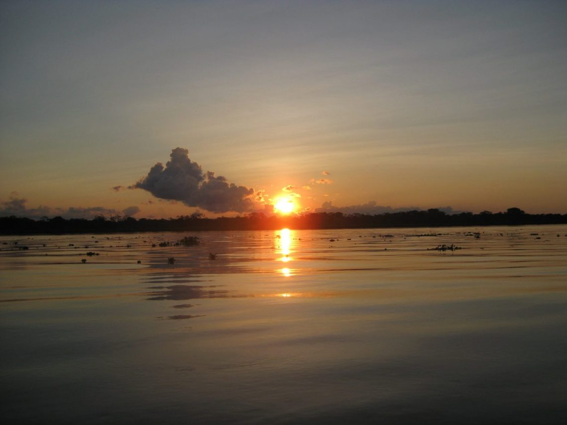 Travel to the Peruvian Amazon - sunset