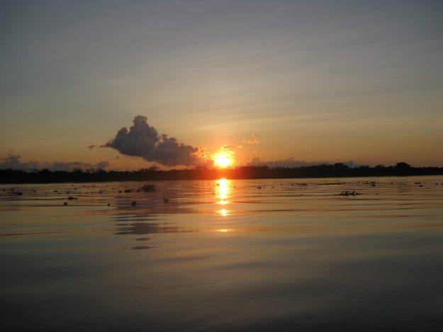 Travel to the Peruvian Amazon - sunset
