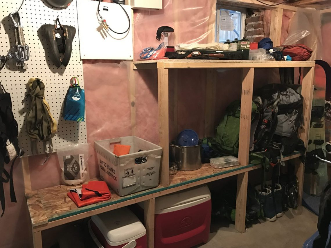 DIY Gear room - Completed