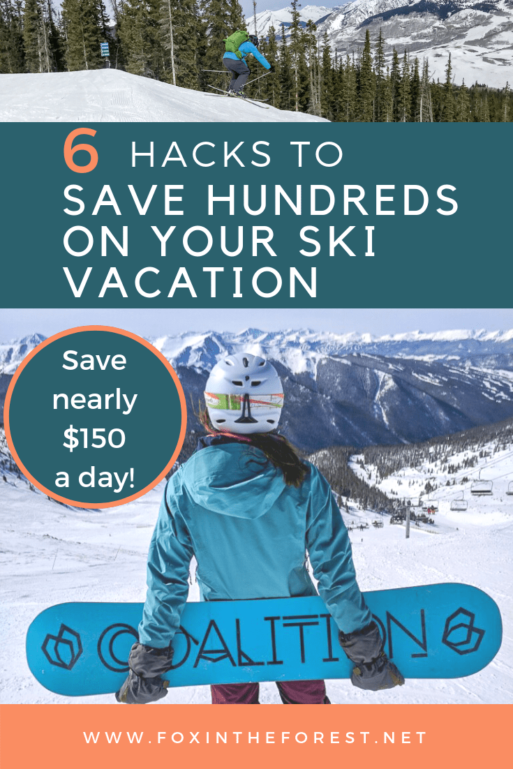 Get local knowledge on how to save money on a ski vacation. Budget-friendly ski vacation. Colorado ski deals. Tips for saving money when skiing. Save hundreds with these travel hacks. #ski #colorado #travel